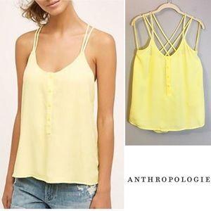 Anthropologie Cloth & Stone Yellow Strappy Tank
